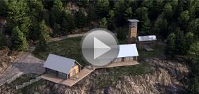 3d модель дома с бункером